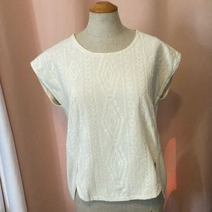 Madewell Off White Blouse Size XS